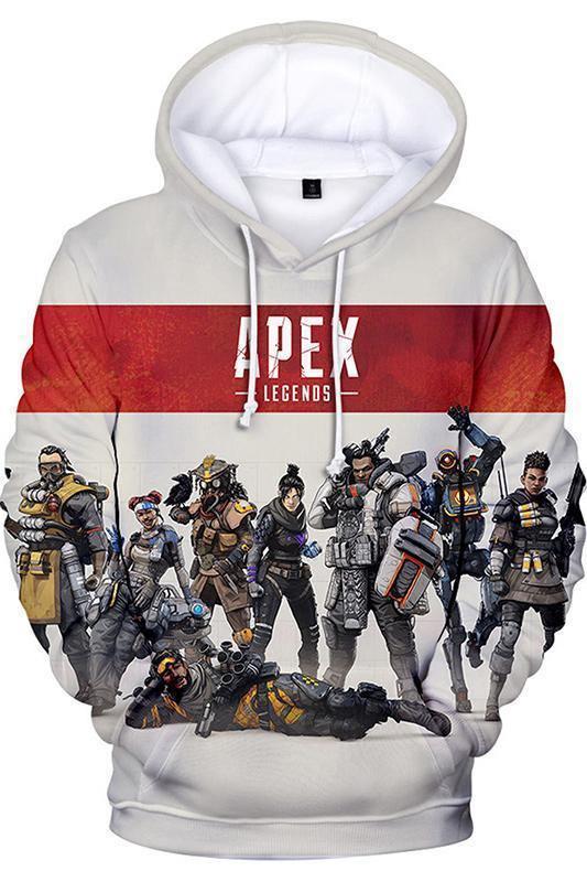 Apex Legends Heros Helden Jumpsuit Erwarchsene Herren Männer Hoodie Pullover mit Kaputze Langarm
