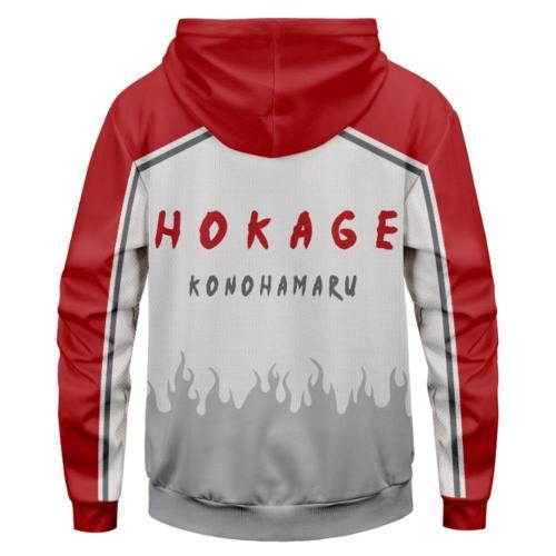 Naruto Cosplay Hoodie HOKAGE KONOHAMARU Hooded Sweatshirts Pullover mit Kaputze