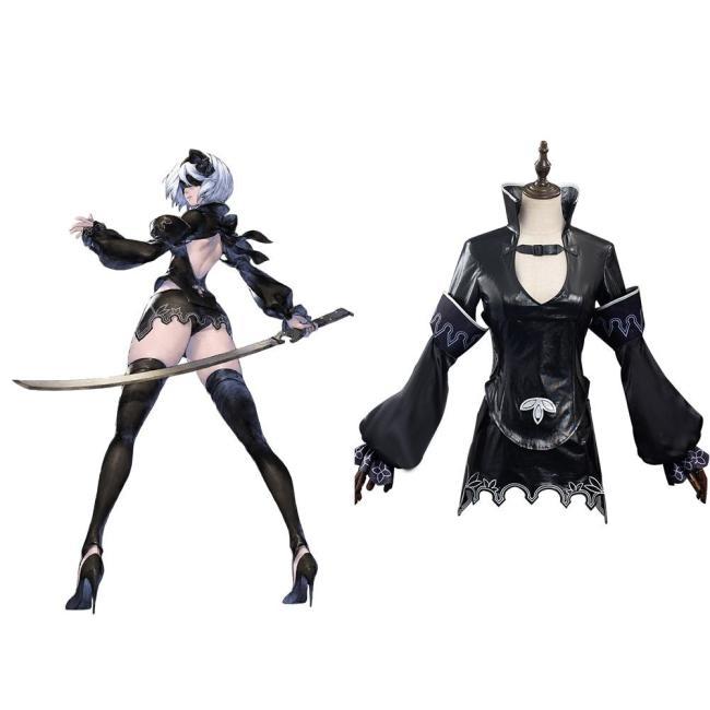 NieR Reincarnation 2B Cosplay Halloween Karneval Kostüm