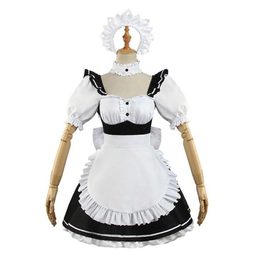 Date A Bullet Tokisaki Kurumi Dienstmädchen Kleid Cosplay Halloween Karneval Kostüm