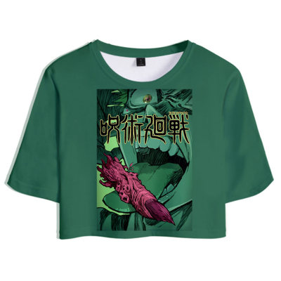 Ryomen Sukuna Jujutsu Kaisen T-Shirt Sommer T shirt Obertei mit Shorts 2tlg für Alltag