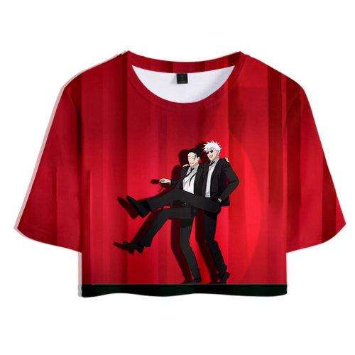 Jujutsu Kaisen Suguru Geto Gojo Satoru Unisex T-Shirt Sommer T shirt Obertei mit Shorts 2tlg für Alltag