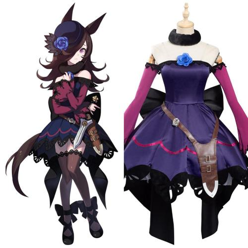 Pretty Derby Rice Shower Uma Musume Kleid Cosplay Kostüm