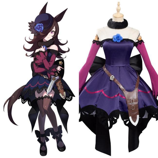 Pretty Derby Rice Shower Uma Musume Kleid Cosplay Kostüm
