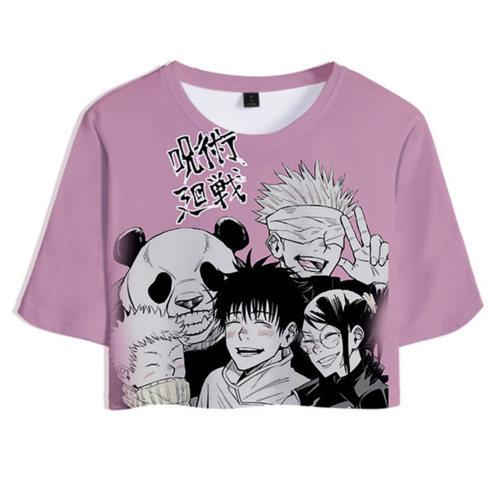 Jujutsu Kaisen T-Shirt Sommer T shirt Obertei mit Shorts 2tlg für Alltag Unisex