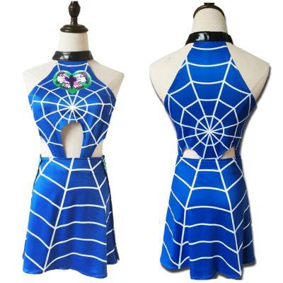 JoJo's Bizarre Adventure Jolyne Cujoh Cosplay Kostüm Kleid Halloween Karneval Outfits