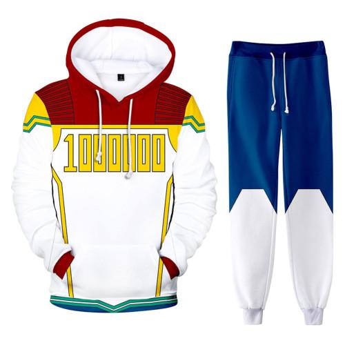 Mirio Togata Lemillion My Hero Academia Boku no Hero Akademia Million 3D Druck Sweatshirt Pullover Jogginghose Joggen Set für Erwachsene