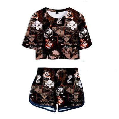 Bakugou Katsuki My Hero Academia 3D Druck Sommer T Shirt Shorts 2tlg Set