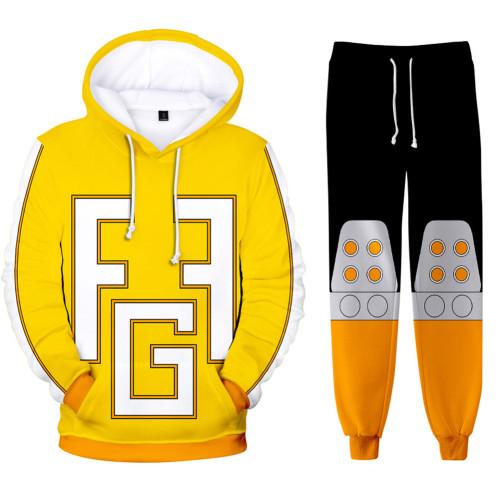 My Hero Academia Boku no Hero Akademia Toyoura Taishirou 3D Druck Sweatshirt Pullover Jogginghose Joggen Set für Erwachsene