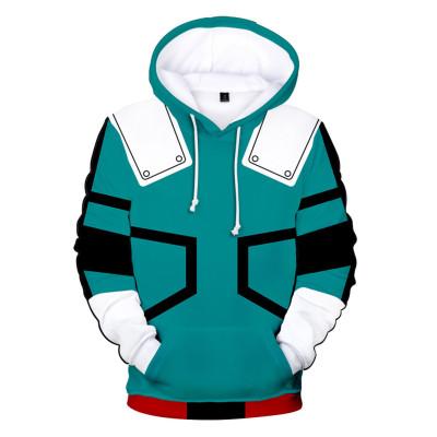 My Hero Academia Boku no Hero Akademia Izuku 3D Druck Sweatshirt Pullover Jogginghose Joggen Set für Erwachsene grün Version
