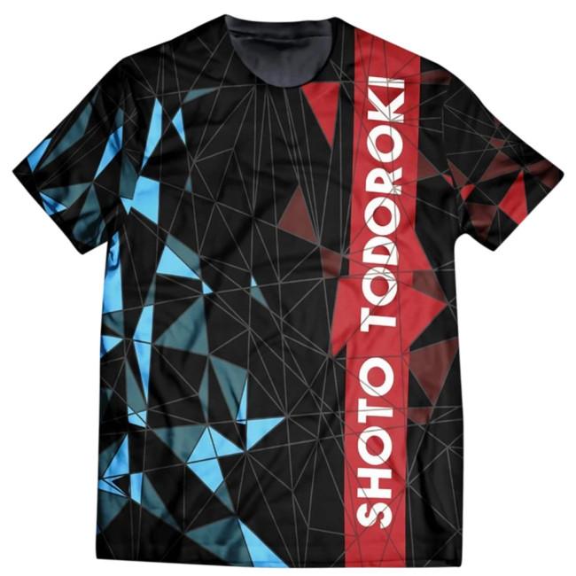 My Hero Academia Sommer T-Shirt Boku No Hero Academia Shoto Todoroki Baumwolle Kurzarm Rundhals T-Shirt
