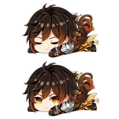 Genshin Impact Amber Plüsche Puppe Kissen Kartoon Kuschelkissen Zuhause Dekoration beiden Seite Druck