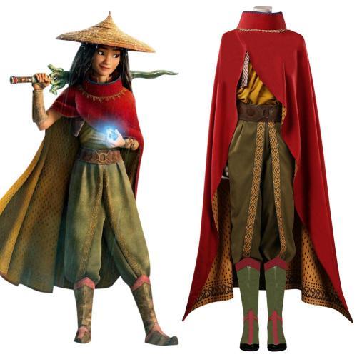 Raya und der letzte Drache Raya Cosplay Kostüm