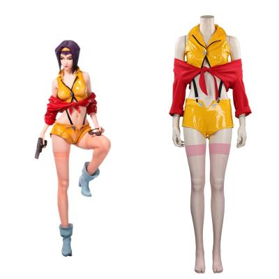 Cowboy Bebop Faye Valentine Cosplay Kostüm Halloween Karneval Outfits