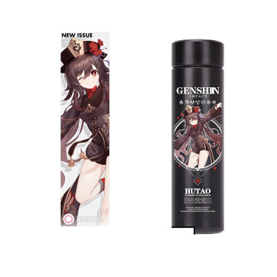 500ml Genshin Impact Thermobecher Ganyu Klee Keqin Pamon Isolierbecher Edelstahl-Reisebecher