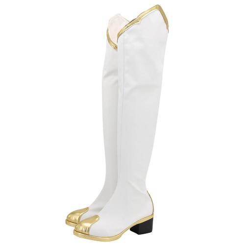 Genshin Impact Amber Cosplay Schuhe Stiefel Halloween Schuhe