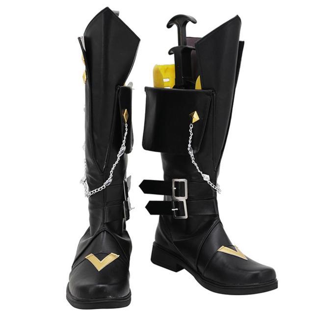 Genshin Impact Tartaglia Cosplay Schuhe Stiefel Halloween Schuhe