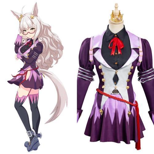 Uma Musume Pretty Derby Biwa Hayahide Kostüm Cosplay Halloween Karneval Outfits