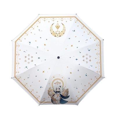 Genshin Impact Paimon Regenschirm Winddicht UV Schutz Taschenschirm