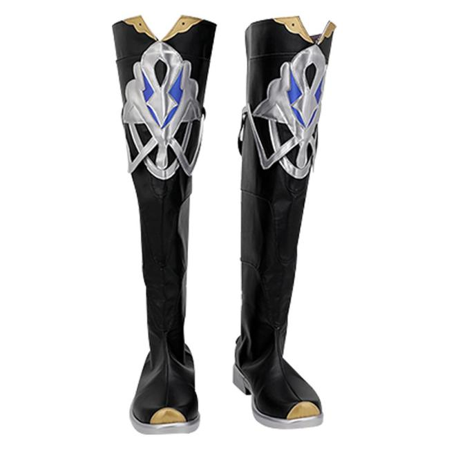 Genshin Impact Albedo Cosplay Schuhe Stiefel Halloween Schuhe