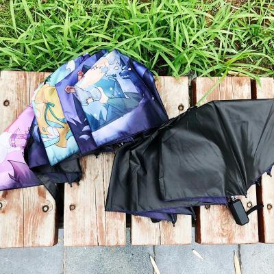 My Hero Academia Winddicht Wasserdicht UV-Schutz Tragbar Taschenschirm