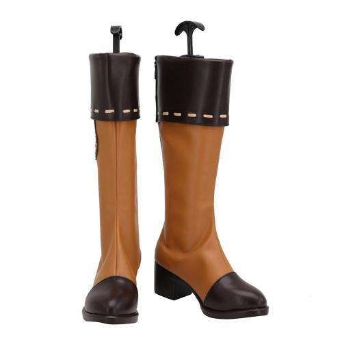 Genshin Impact Klee Cosplay Schuhe Stiefel Halloween Schuhe