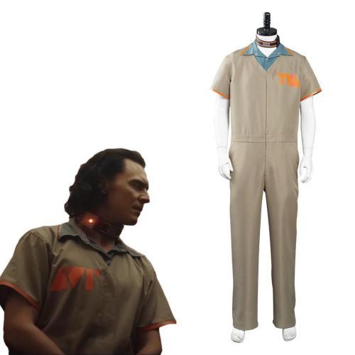 Loki 2021 Kostüm Cosplay Halloween Karneval Outfits Gefängnisuniform