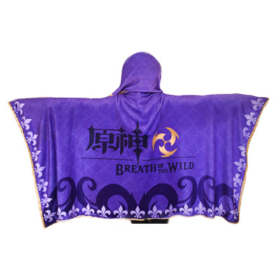 Genshin Impact Hooded Decke Weich Kuscheldecke Venti Keqing Cosplay Hooded Decke