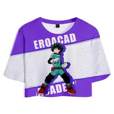 My Hero Academia Izuku Midoriya 3D Druck kurzärmelige Sportbekleidung Erwachsene Unisex