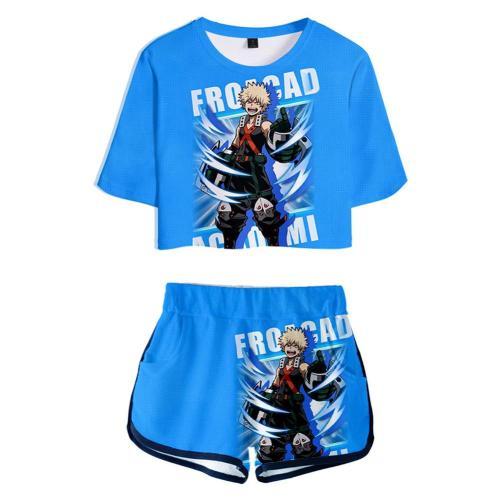 My Hero Academia Katsuki Bakugou 3D Druck kurzärmelige Sportbekleidung Erwachsene Unisex