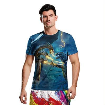 Godzilla Top T-Shirt Kurzarm Rundhals für Alltag Erwachsene Herren Männer