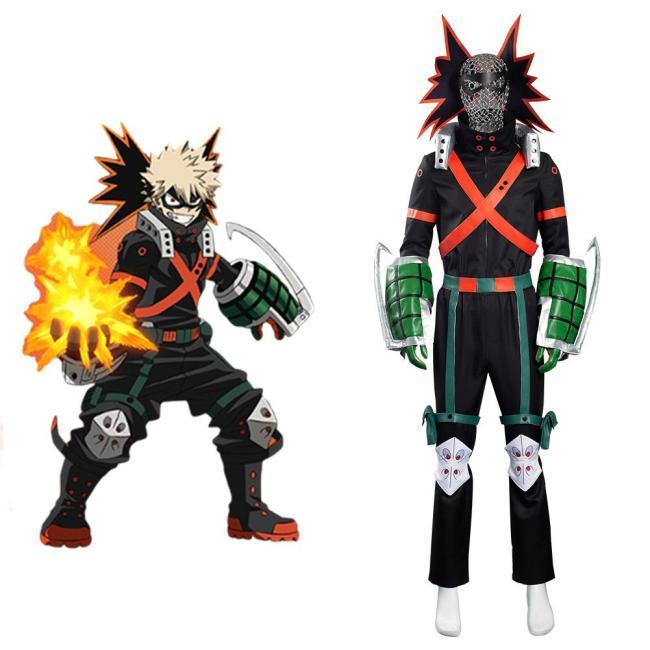 My Hero Academia Bakugou Katsuki Cosplay Kostüme Kampfkleidung Halloween Karneval Outfits
