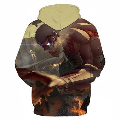Attack on Titan Reiner Braun Cosplay Hoodie 3D Druck Sweatshirt Kapuzenpullover Unisex