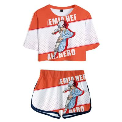 My Hero Academia Shoto Todoroki 3D Druck kurzärmelige Sportbekleidung Erwachsene Unisex