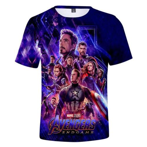 Avengers 4 Endgame Avengers: Infinity War - Part II T-Shirt Top Kurzarm Rundhals auch für Alltag für Kinder/ Erwachsene