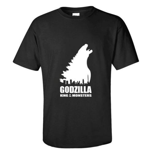 Godzilla 2: King of Monsters Godzilla Logo T-Shirt Top Kurzarm Rundhals Erwachsene EU-Größe