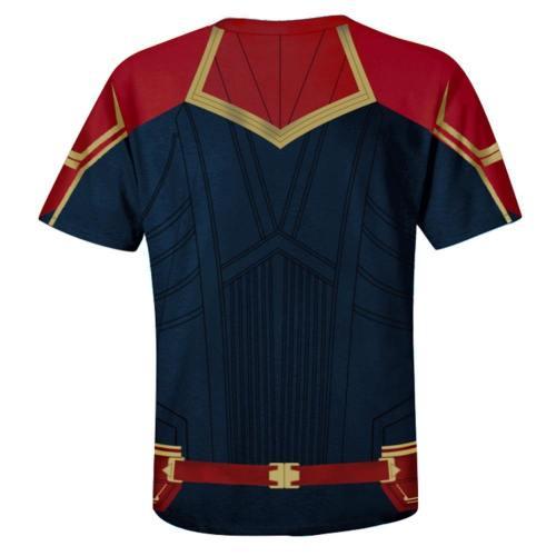 Avengers 4 : Endgame Captain Marvel Carol Danvers T-Shirt Top Kurzarm Rundhals auch für Alltag für Erwachsene