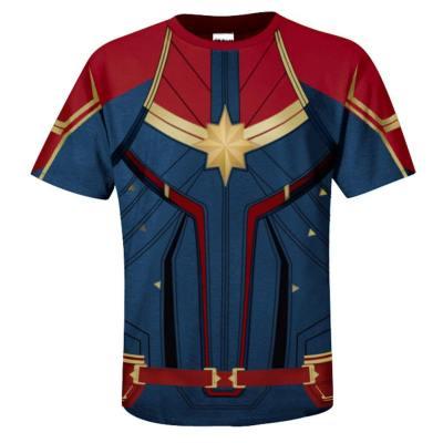 Avengers 4 : Endgame Captain Marvel Carol Danvers Tee T-Shirt Top Kurzarm Rundhals auch für Alltag für Erwachsene