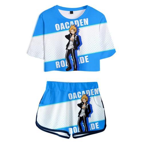 My Hero Academia Kaminari Denki 3D Druck kurzärmelige Sportbekleidung Erwachsene Unisex