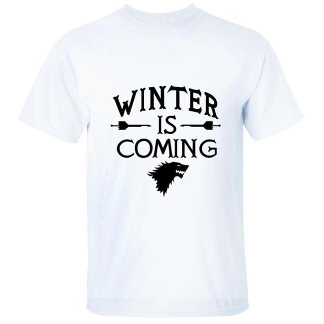 GOT 8 Game of Thrones Staffel 8 GOT WINTER IS COMING Stark T-Shirt Top Hemd Rundhals Kurzarm