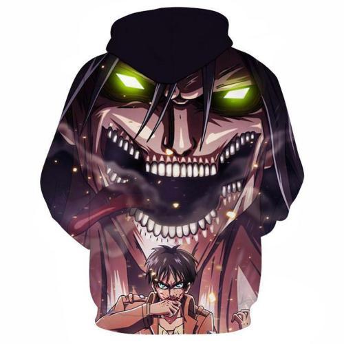Attack on Titan Eren Jäger Cosplay Hoodie 3D Druck Sweatshirt Kapuzenpullover Unisex