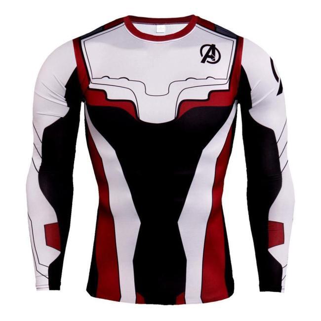 Avengers 4 Endgame Avengers: Infinity War - Part II Quantenreich Suit Quantum Realm Suit T-Shirt Top Langarm Rundhals auch für Alltag für Kinder/ Erwachsene