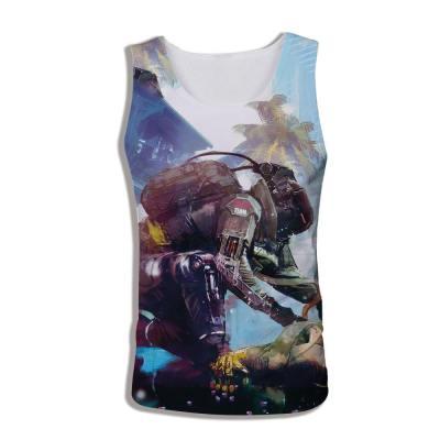 Erwachsene Weste Sommer T-Shirt Cyberpunk 2077 3D Druck Top Oberteil Ohne Ärmel