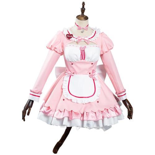 Nekopara Vol. 4 Chocola/Vanilla Chocola Dienstmädchen Kleid Cosplay Halloween Karneval Kostüm