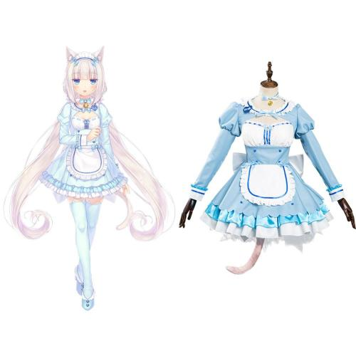 Nekopara Vol. 4 Chocola/Vanilla Kleid Cosplay Halloween Karneval Outfits