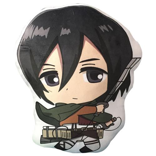 Attack on Titan Kissen Eren Jaeger Mikasa Ackerman Plüsche Kissen Zuhause Puppe Plüsche Puppe