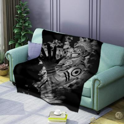 Jujutsu Kaisen Decke Fleece Polyester Plüsche Decke Tragbar