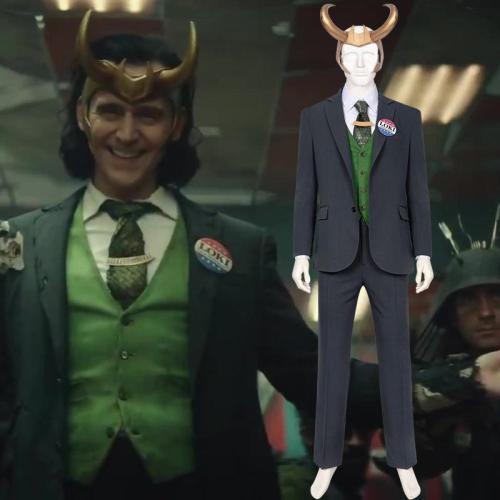 Loki 2021 Loki Anzug Cosplay Kostüm Set