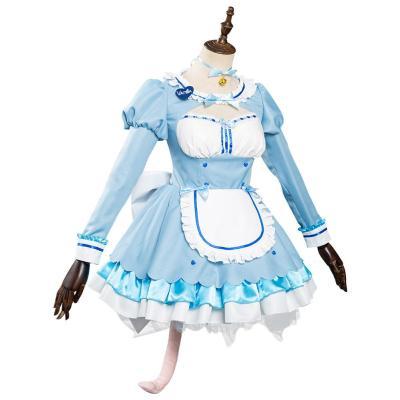 Nekopara Vol. 4 Chocola/Vanilla Kleid Cosplay Halloween Karneval Outfits