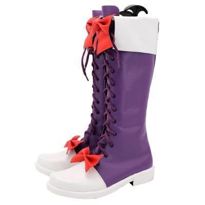 High-Rise Invasion Maid-fuku Kamen Dienstmädchen Stiefel Cosplay Schuhe
